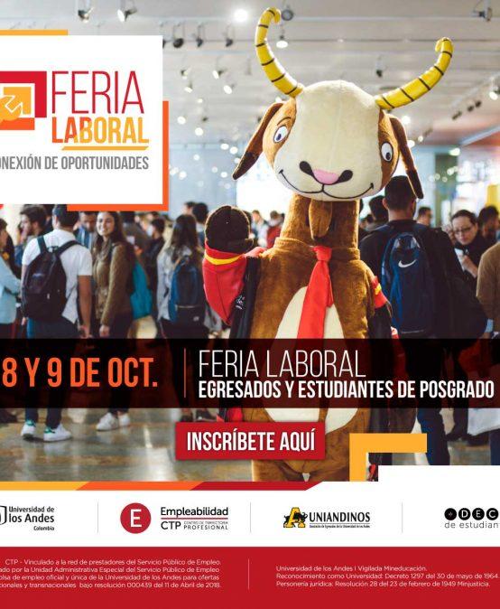 Feria laboral para egresados en la Universidad de los Andes