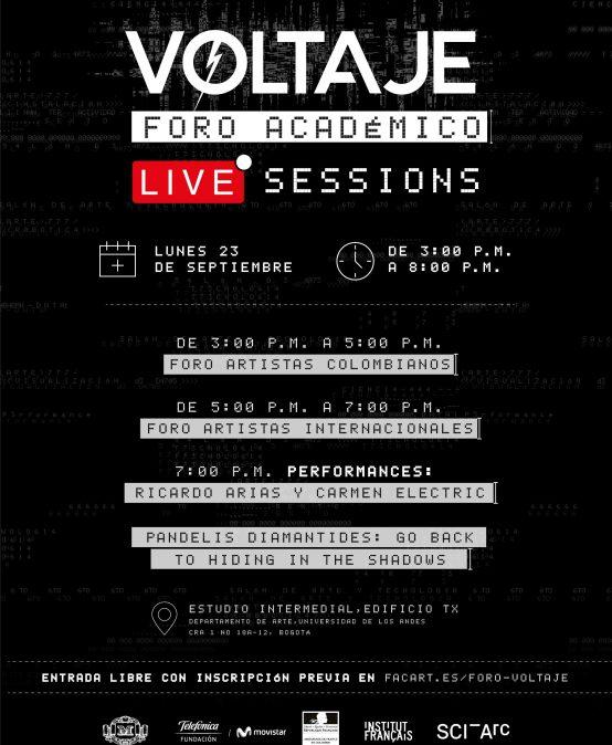 Foro académico & Live sessions – Voltaje 6ª Edición