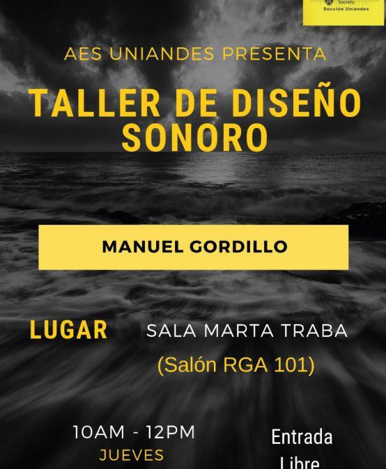 Taller de diseño sonoro con Manuel Gordillo