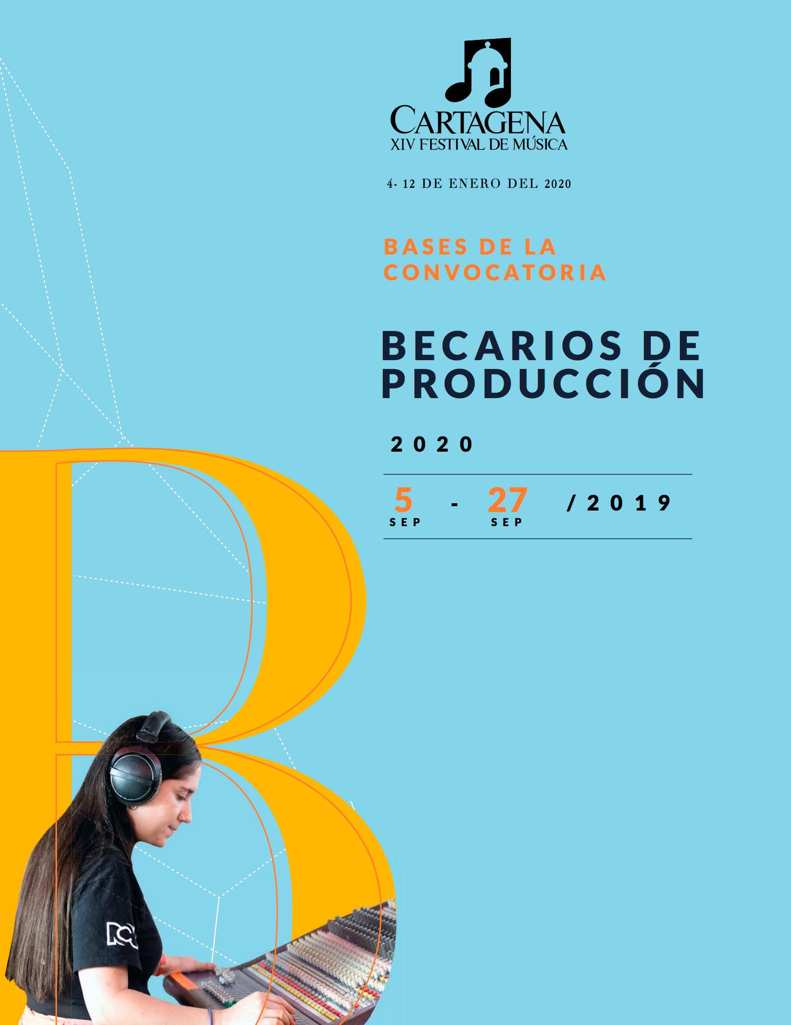 Convocatoria:Becarios de producciónpara el Cartagena XIV Festival de Música