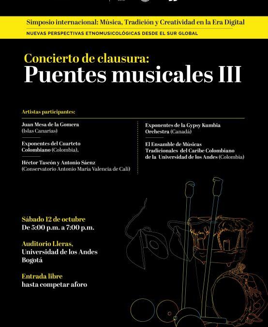 Concierto de clausura – Puentes musicales III