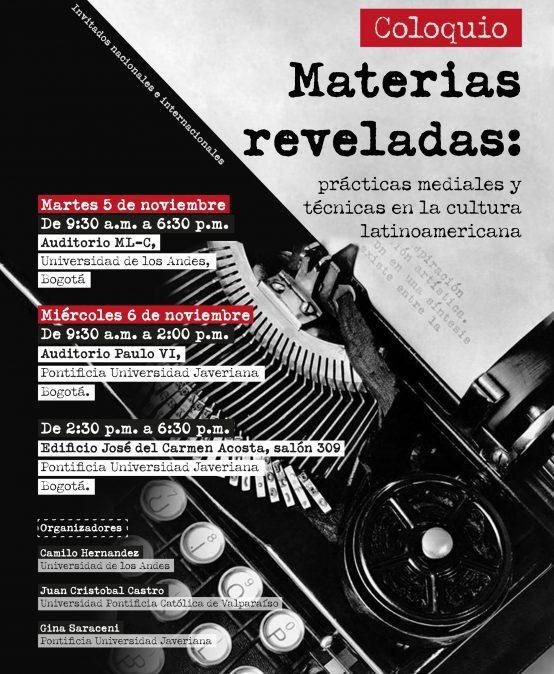 Coloquio – Materias reveladas: prácticas mediales y técnicas en la cultura latinoamericana