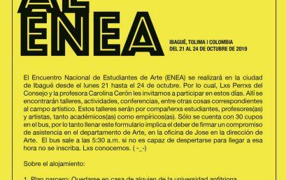 Bus al Enea – Encuentro Nacional de Estudiantes de Arte