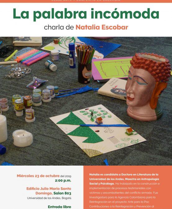 La palabra incómoda | charla de Natalia Escobar