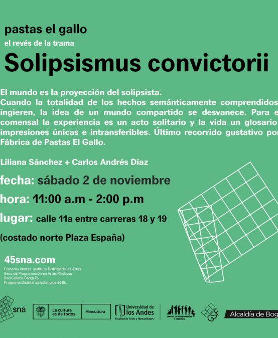 Solipsismus convictorii | Exposición Pastas el Gallo