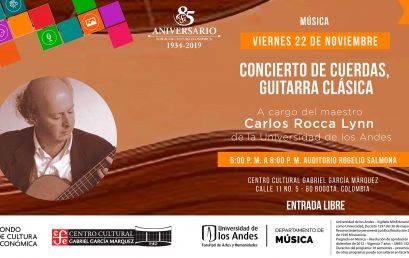 Concierto de guitarra clásica con Carlos Rocca Lynn