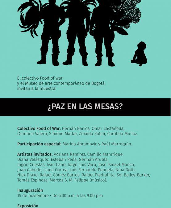 Exposición ¿Paz en las mesas? | Food of war