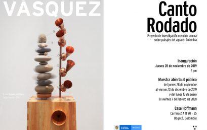 Exposición Canto Rodado de Leonel Vásquez