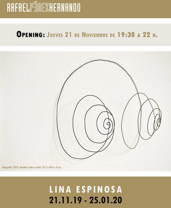 Exposición Líneas improbables de Lina Espinosa en Madrid, España.