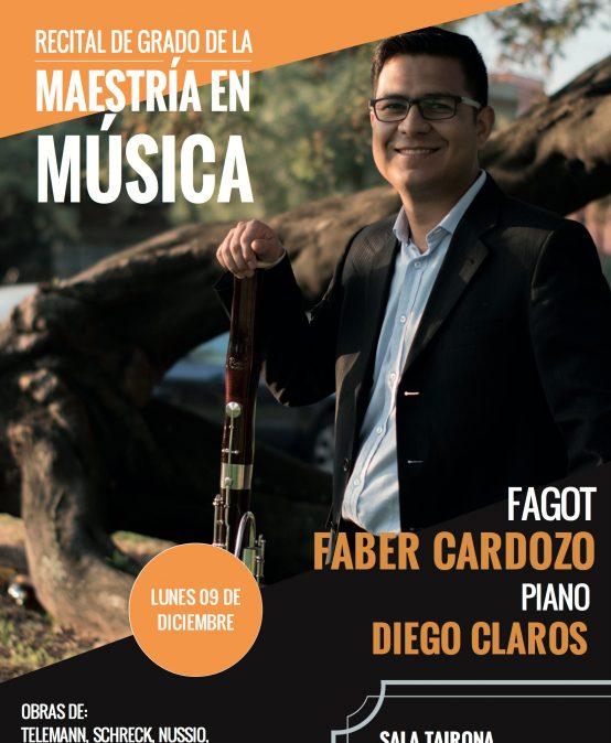 Concierto: Fáber Cardozo (fagot) y Diego Claros (piano)