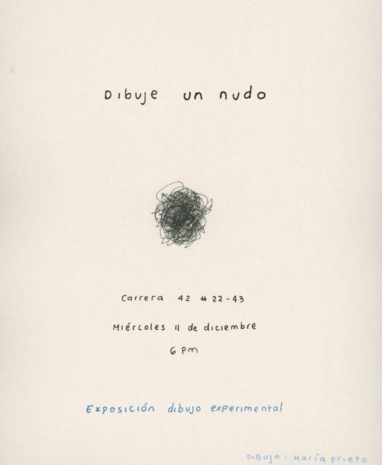 Dibuje un nudo | Exposición dibujo experimental