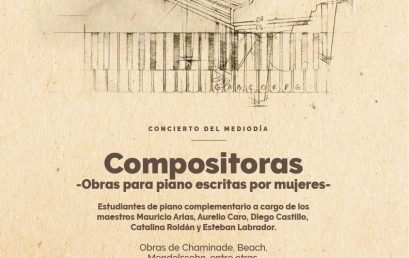 Concierto del mediodía: Compositoras – Obras para piano escritas por mujeres