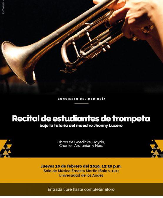 Concierto del mediodía: Recital de estudiantes de trompeta