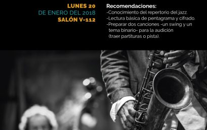Audiciones 2020-1: Ensamble de Jazz y Big Band Uniandes