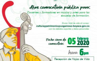 Convocatoria para docentes y formadores en música y artes | Alcaldía de Sogamoso