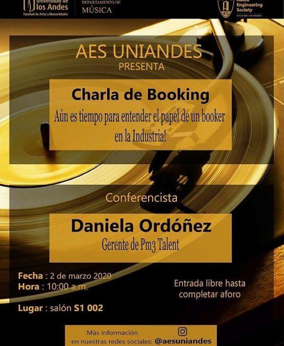 Charla de Booking con Daniela Ordóñez