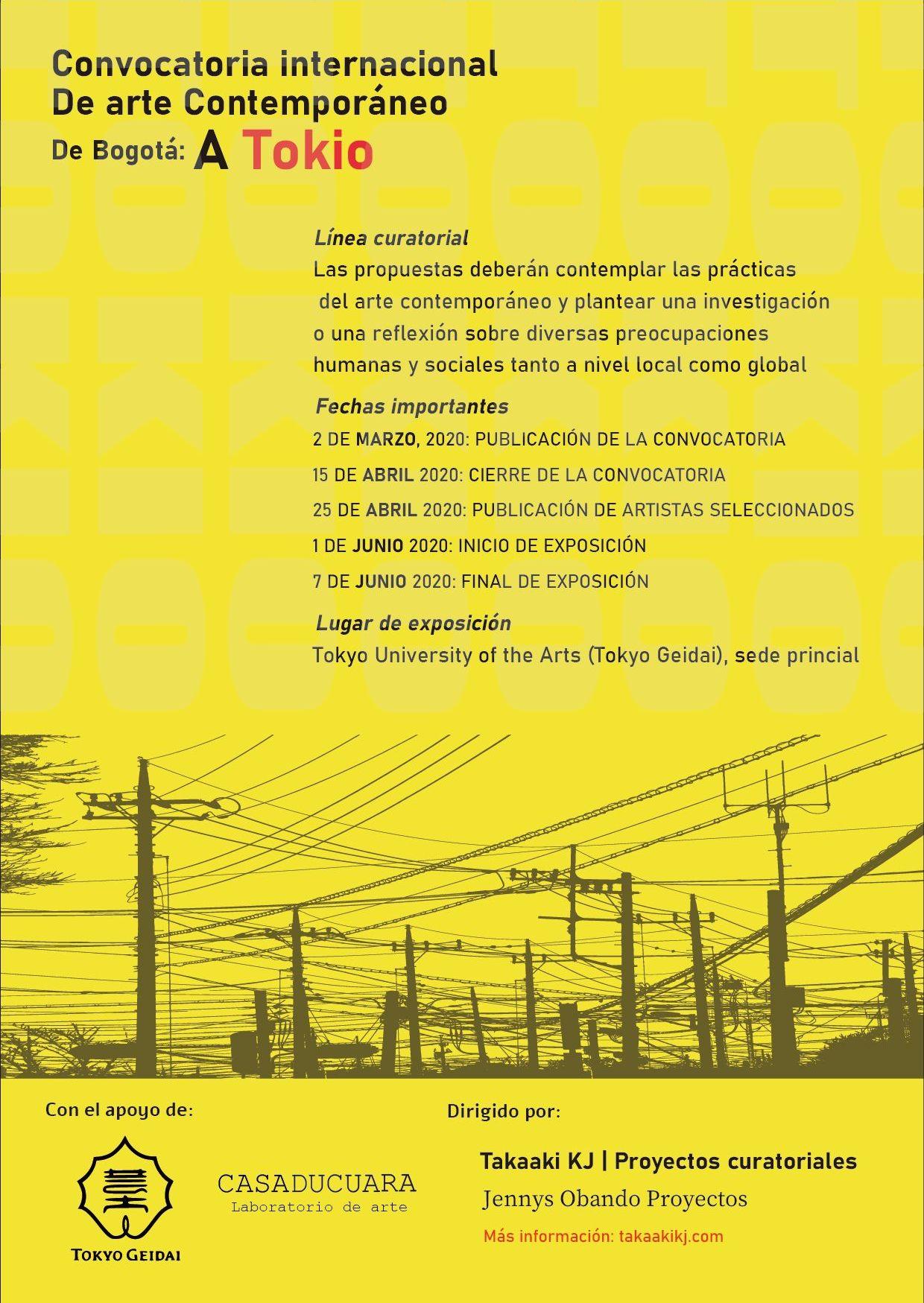 Convocatoria internacional de arte contemporáneo: de Bogotá a Tokio