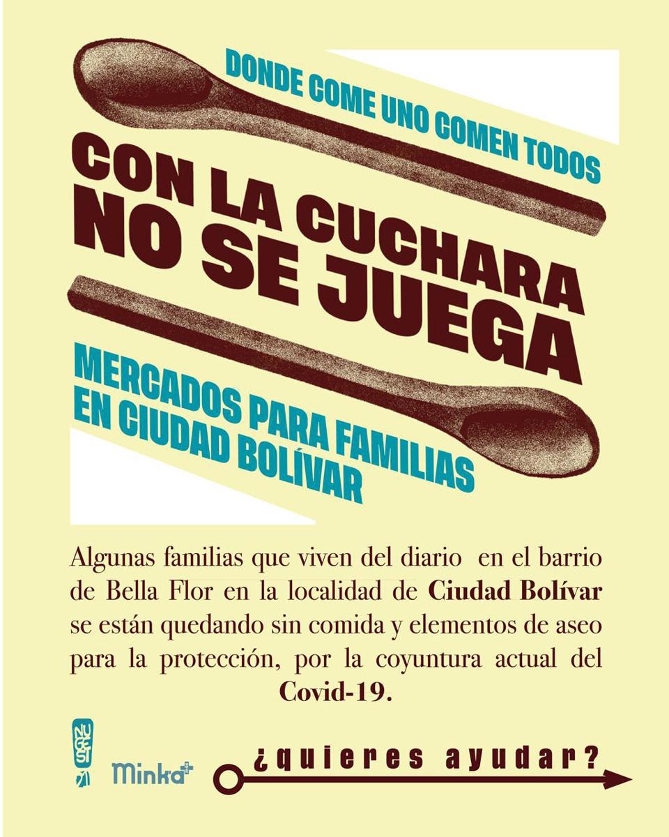 Con la cuchara no se juega: mercados para familias de Ciudad Bolivar