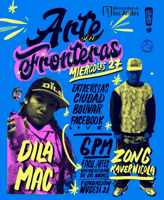Arte sin Fronteras: transmisión en vivo con Dila Mac y Zong Kavernicola