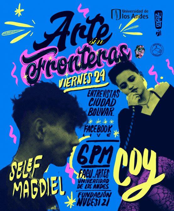 Arte sin Fronteras: transmisión en vivo con Selef Magdiel y Coy