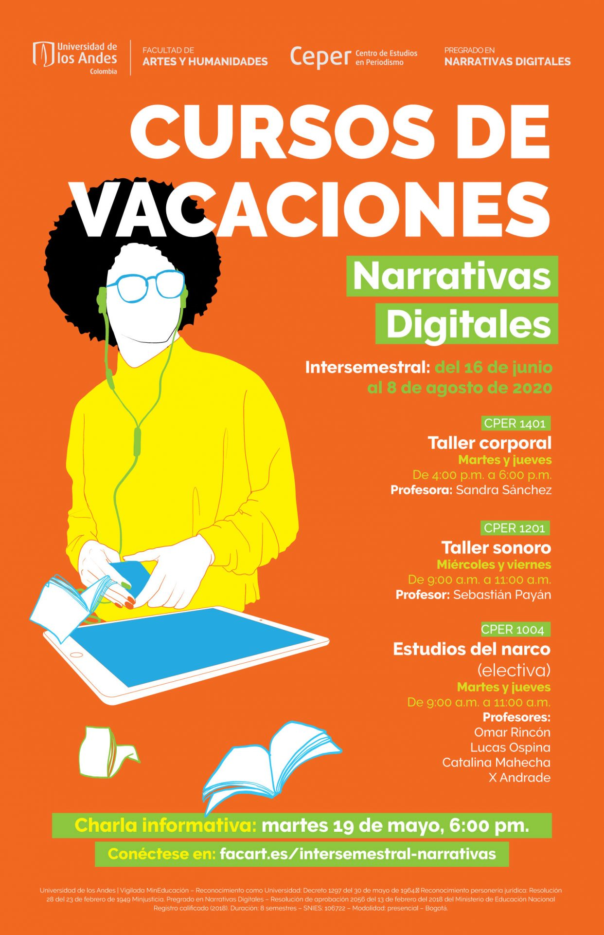 Cursos intersemestrales Narrativas Digitales