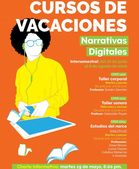 Charla informativa: Cursos de vacaciones Narrativas Digitales