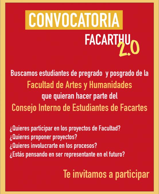 Convocatoria para el Consejo Interno Estudiantil Facultad de Artes y Humanidades