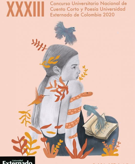 Estefany Cortés, estudiante de Arte, fue la ganadora del concurso de afiche de la Universidad Externado