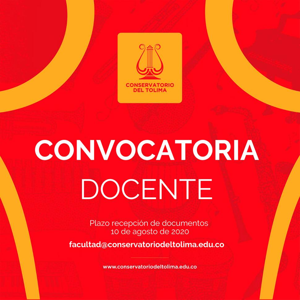 Convocatoria para músicos docentes: Universidad del Tolima