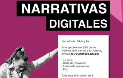 Convocatoria Representante Accidental Narrativas Digitales