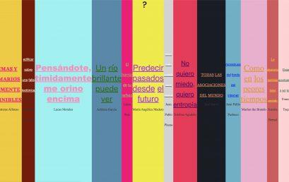 La exposición de cinco palabras. Nuevo proyecto de Carolina Cerón.