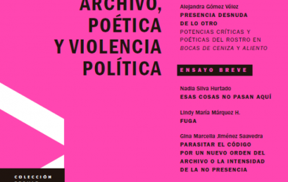 Presentación del libro: Archivo, poética y violencia política