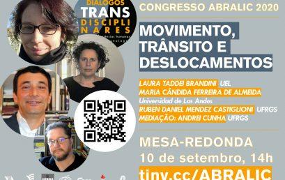 Congreso ABRALIC: Movimento, trãnsito e deslocamentos