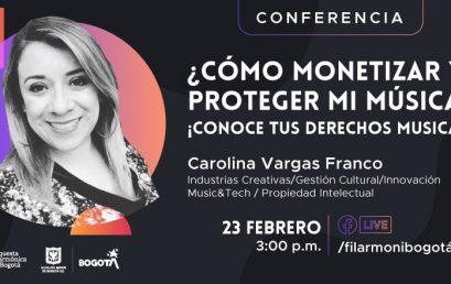 Conferencia: ¿Cómo monetizar y proteger mi música?