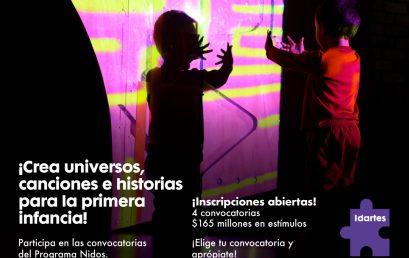 Programa Nidos de Idartes: becas de creación y circulación de arte transdiciplinar dirigido a la primera infancia