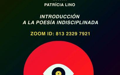 Taller de Poesía: Introducción a la poesía indisciplinada con Patrícia Lino