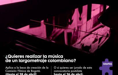 Beca de creación de música original para largometraje | Idartes
