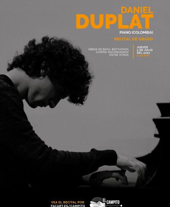 Recital de grado: Daniel Duplat, piano