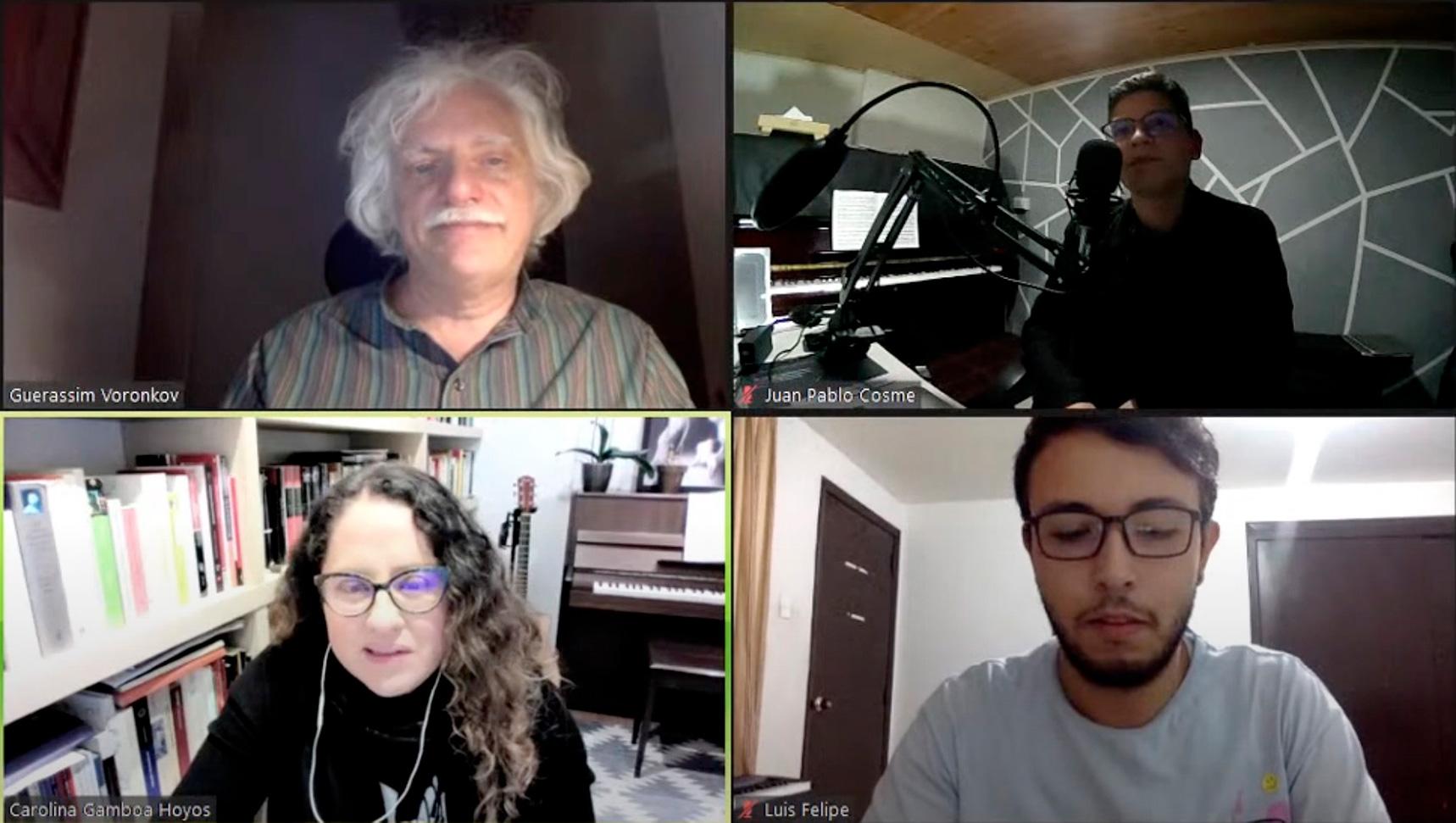 Carolina Gamboa conversa sobre el Réquiem de Brahms en la Cátedra Bogotá Musical Internacional de la Universidad Nacional