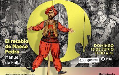 Ópera: El retablo de Maese Pedro, Manuel de Falla