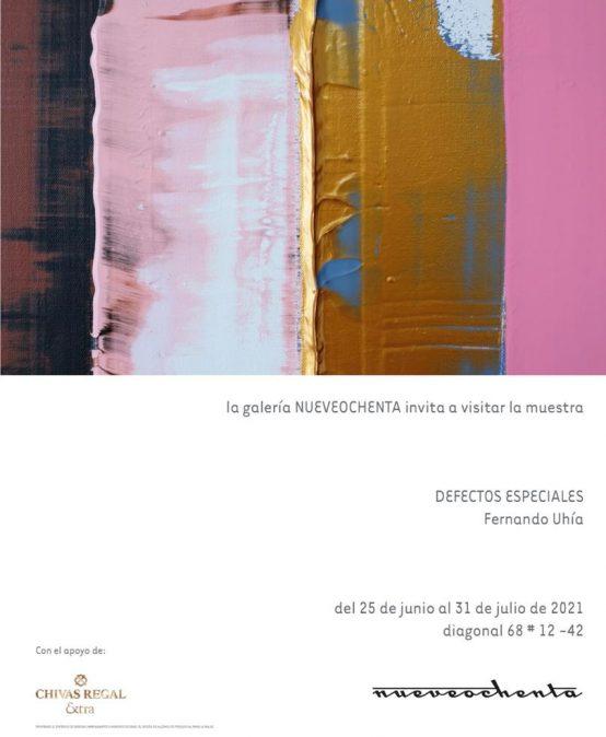 Exposición Defectos Especiales de Fernando Uhía en Nueveochenta