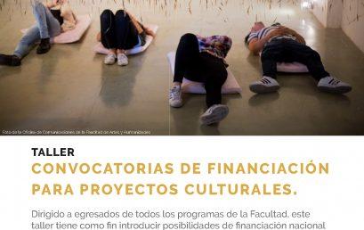 Taller: Convocatorias de financiación para proyectos culturales
