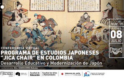 """Conferencia: Programa de estudios japoneses """"JICA Chair"""" en Colombia"""