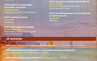Oferta de cursos Historia del Arte 2021-20