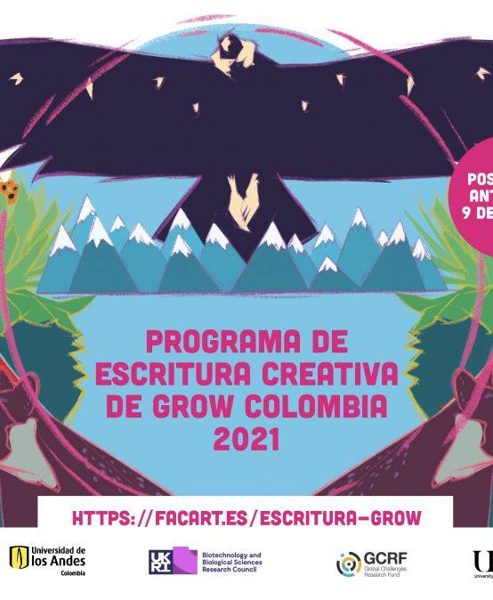 Programa de escritura creativa de Grow Colombia 2021