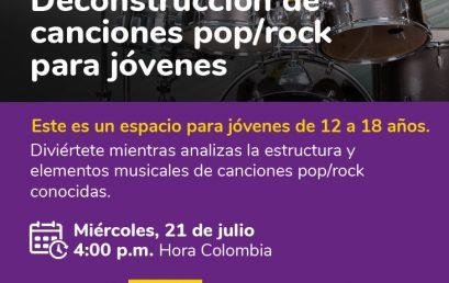 Webinar: Deconstrucción de canciones pop/rock para jóvenes