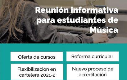 Reunión informativa para estudiantes de Música