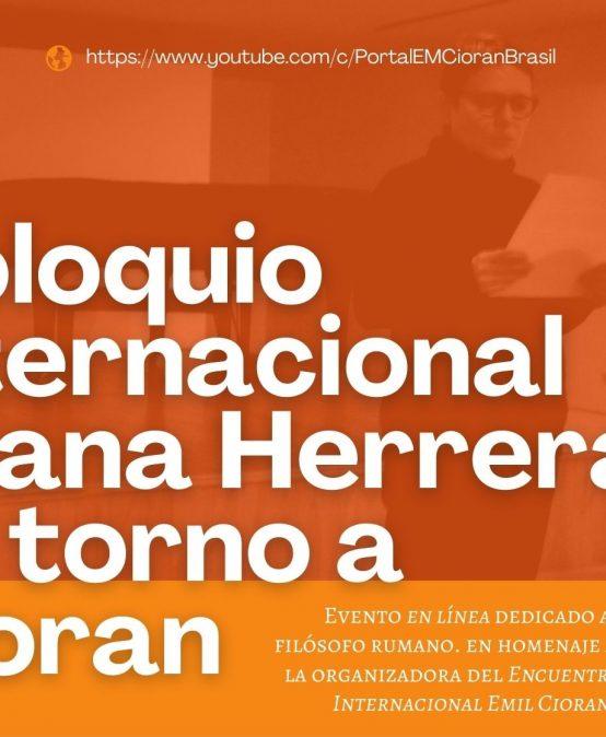 Francia Goenaga participa en el Coloquio Liliana Herrera en torno a Cioran