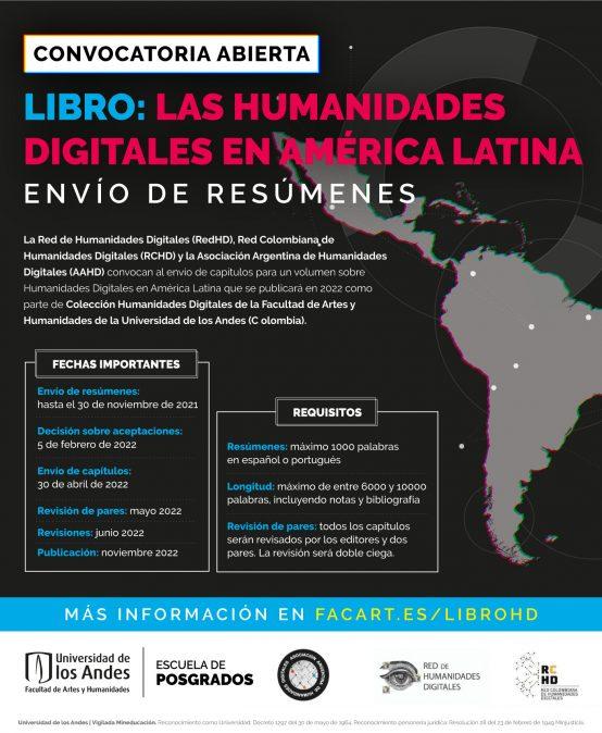 Libro: Las Humanidades Digitales en América Latina – Convocatoria abierta para envío de resúmenes