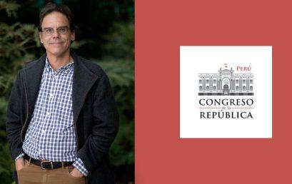 Alexander Herrera es nombrado miembro de consejo consultivo del Congreso de Perú